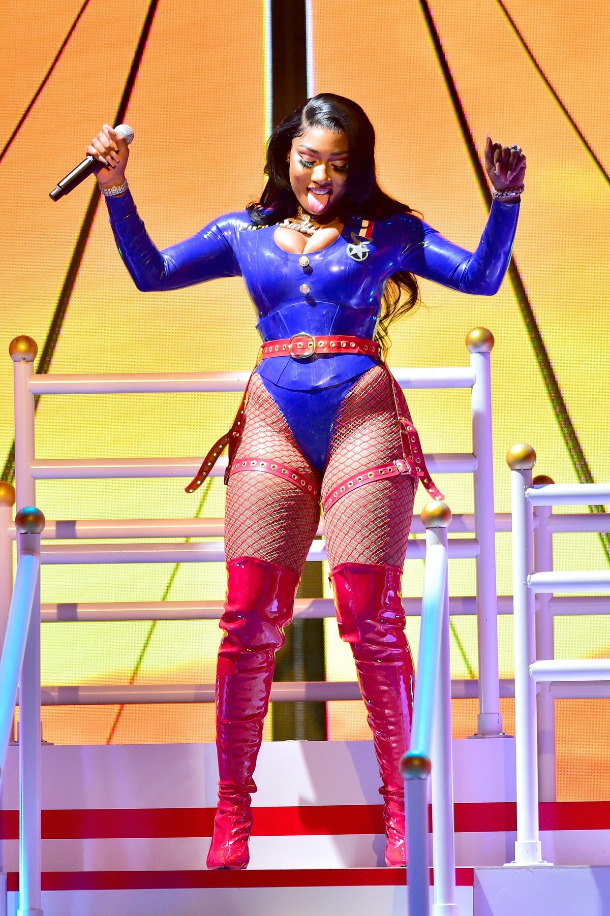 Megan on stage
