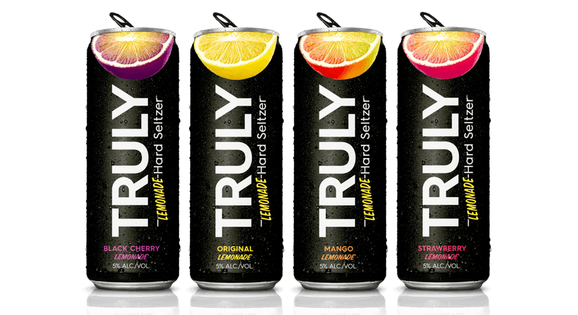 Truly's hard lemonade comes in four flavors, including mango and black cherry.