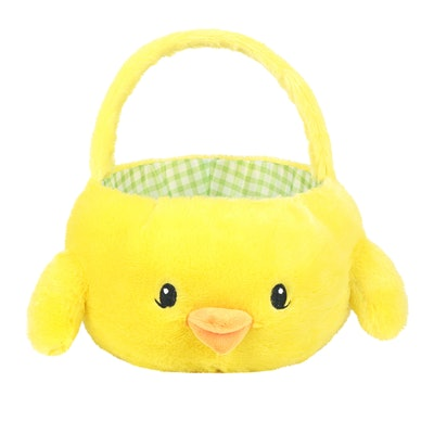"Way to Celebrate 10"" Chubby Cheeks Plush Easter Basket"