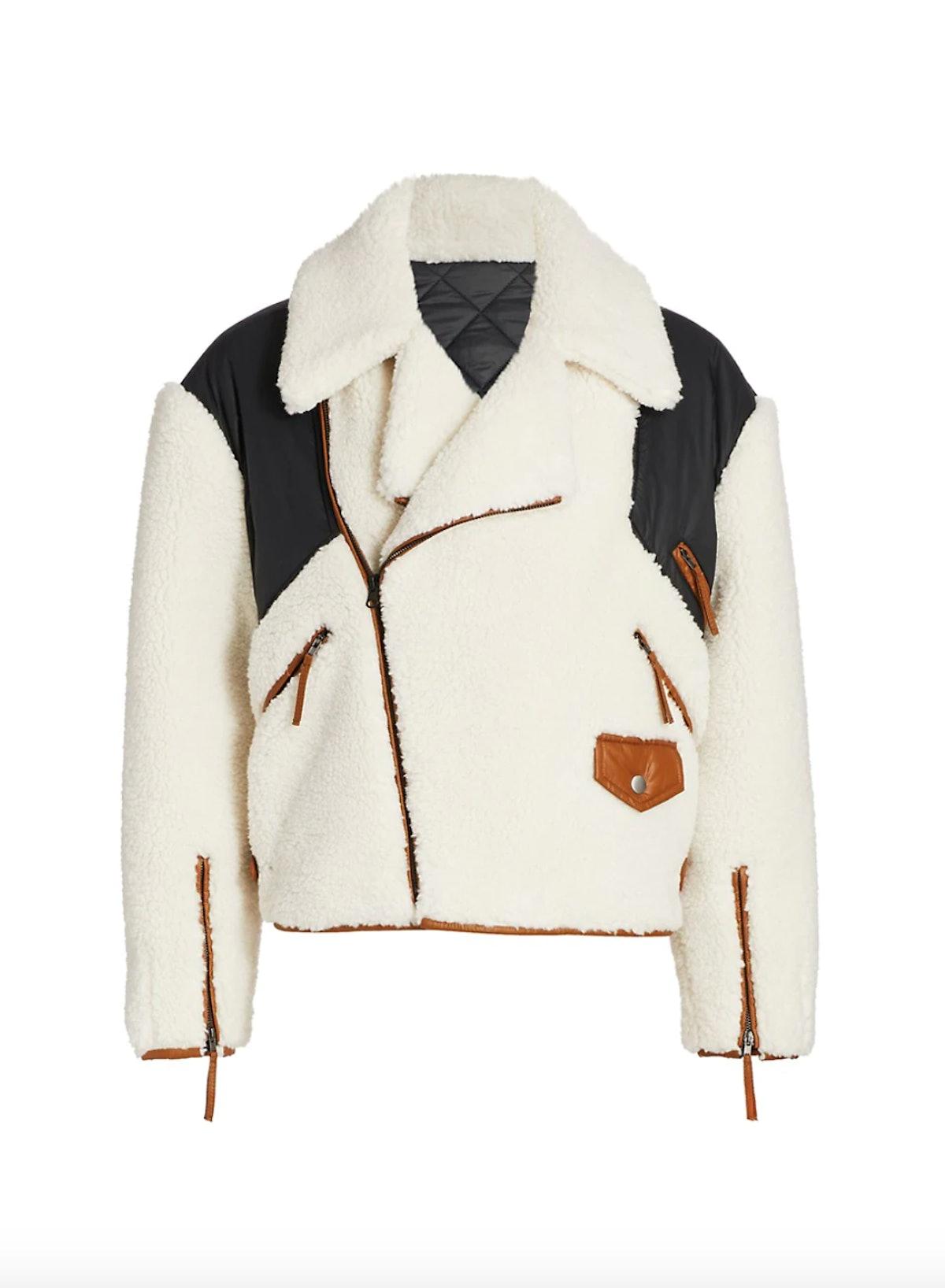Fleece Mix Aviator Jacket
