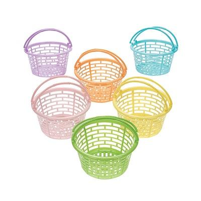 Plastic Pastel Round Baskets