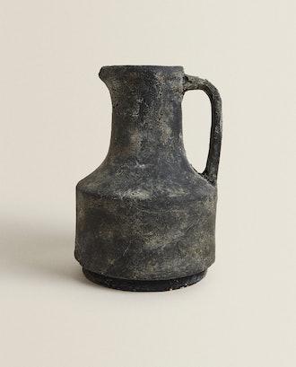 Black Terracotta Pot