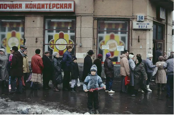 Bread lines became a metaphor for the decline of Communism.