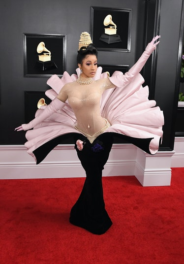 Cardi B in seashell dress