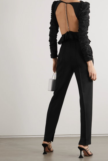 Rosy Cutout Twill Top