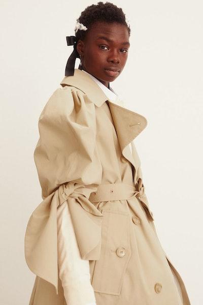H&M x Simone Rocha Puff-Sleeved Trenchcoat