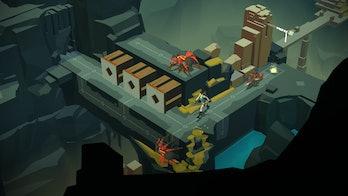 square enix lara croft go montreal mobile puzzle tomb raider