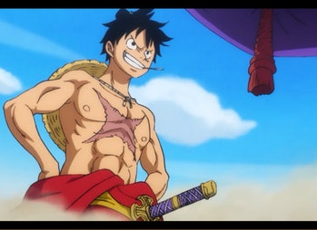 Luffy from One Piece in 2019.