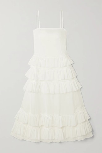 Wray Ruffled Tiered Cotton-Voile Maxi Dress