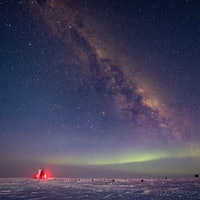 Ghost collisions under Antarctic ice reveal rarely seen force in physics
