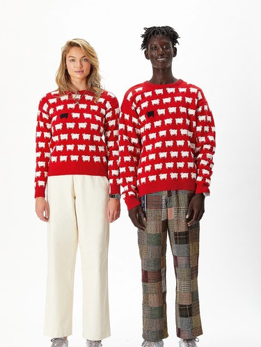 Rowing Blazers x Warm & Wonderful Diana sheep sweater