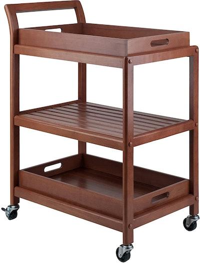 Winsome Albert Entertainment Kitchen Cart