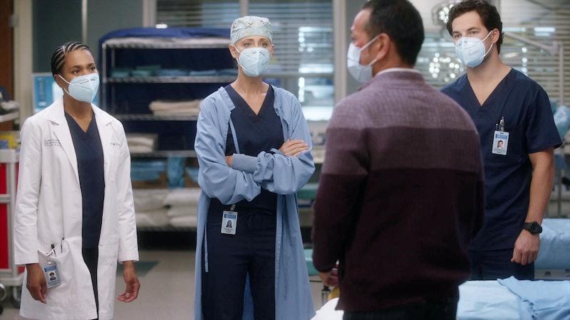 KELLY MCCREARY, KIM RAVER, GIACOMO GIANNIOTTI as Maggie, Teddy, and Deluca in 'Grey's Anatomy' Seaso...
