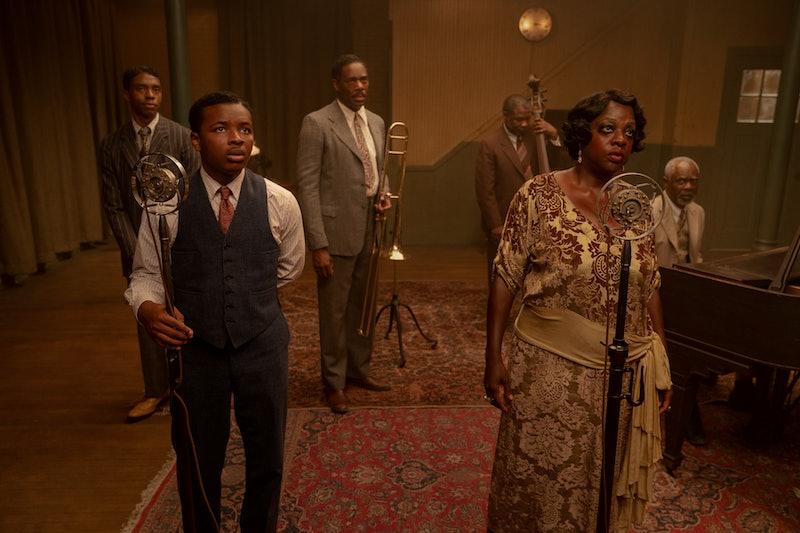 Viola Davis, Chadwick Boseman, and other cast members from 'Ma Rainey's Black Bottom.'