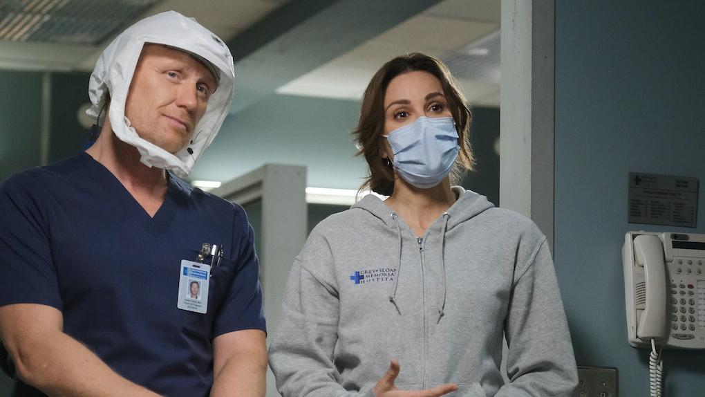 Kevin McKidd and Stefania Spampinato in Grey's Anatomy Season 17.