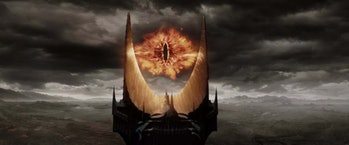 The eye of Sauron in Peter Jackson's Lord of the Rings films