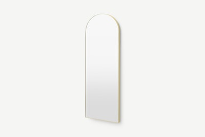 Arles Arch Dress Wall Mirror 40 x 120cm, Brushed Brass