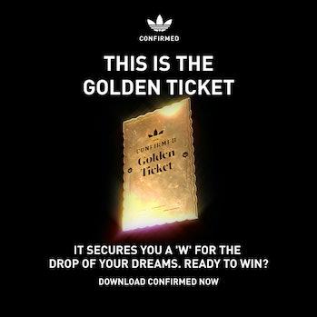 Adidas Confirmed Golden Ticket