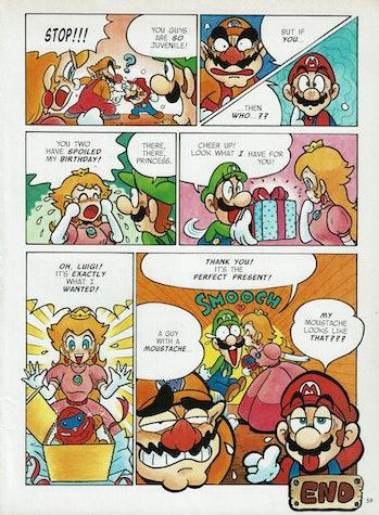 wario mario comic nintendo power peach luigi