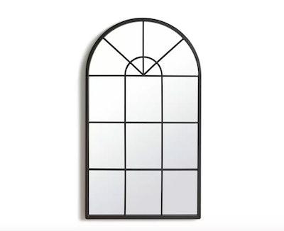 Habitat Window Pane Mirror - Black