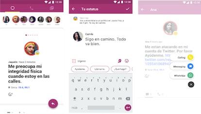 A screenshot of Círculo safety app.