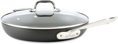 All-Clad Hard-Anodized Nonstick Frying Pan With Lid