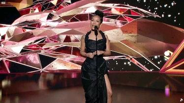 Jhene Aiko on the Grammys stage.
