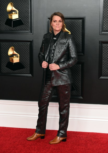In this image released on March 14, Brandi Carlile attends the 63rd Annual GRAMMY Awards at Los Angeles Convention Center in Los Angeles, California and broadcast on March 14, 2021.