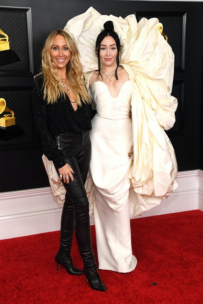 Tish Cyrus and Noah Cyrus attend the 63rd Annual GRAMMY Awards at Los Angeles Convention Center on March 14, 2021 in Los Angeles, California.