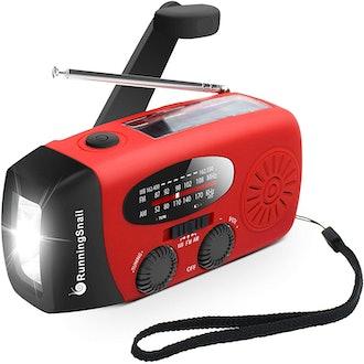 RunningSnail Emergency Hand Crank Self Powered Weather Radio