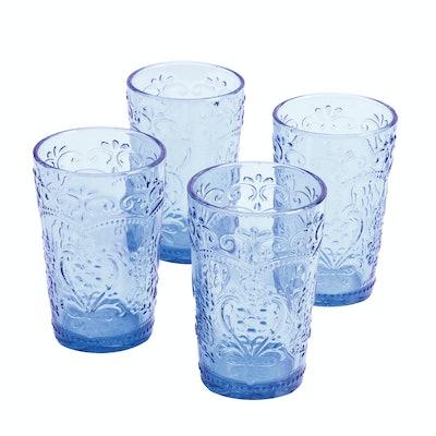 Blue Amelia Tumbler, Set of 4