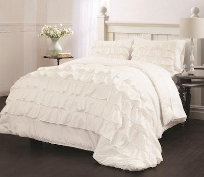 Ruby Ruffle Bedding Comforter Set