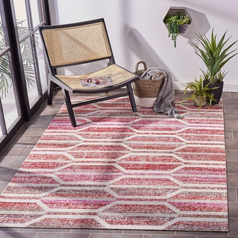 Montage Collection Boho Indoor Outdoor Area Rug