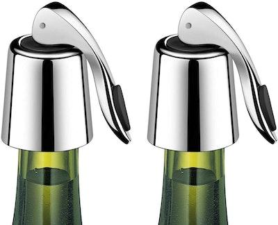 ERHIRY Stainless Steel Wine Bottle Stopper (2-Pack)