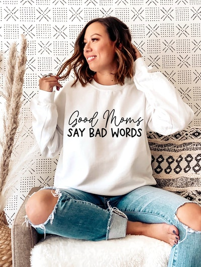 NunuStudioCo - Good Moms say Bad words Sweatshirt