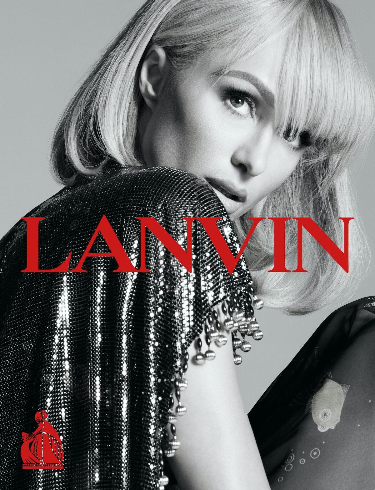 Paris Hilton in a Lanvin campaign