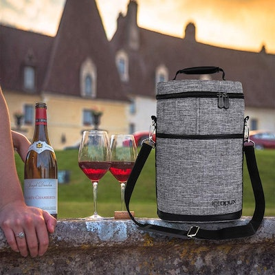 OPUX Two-Bottle Wine Tote Carrier