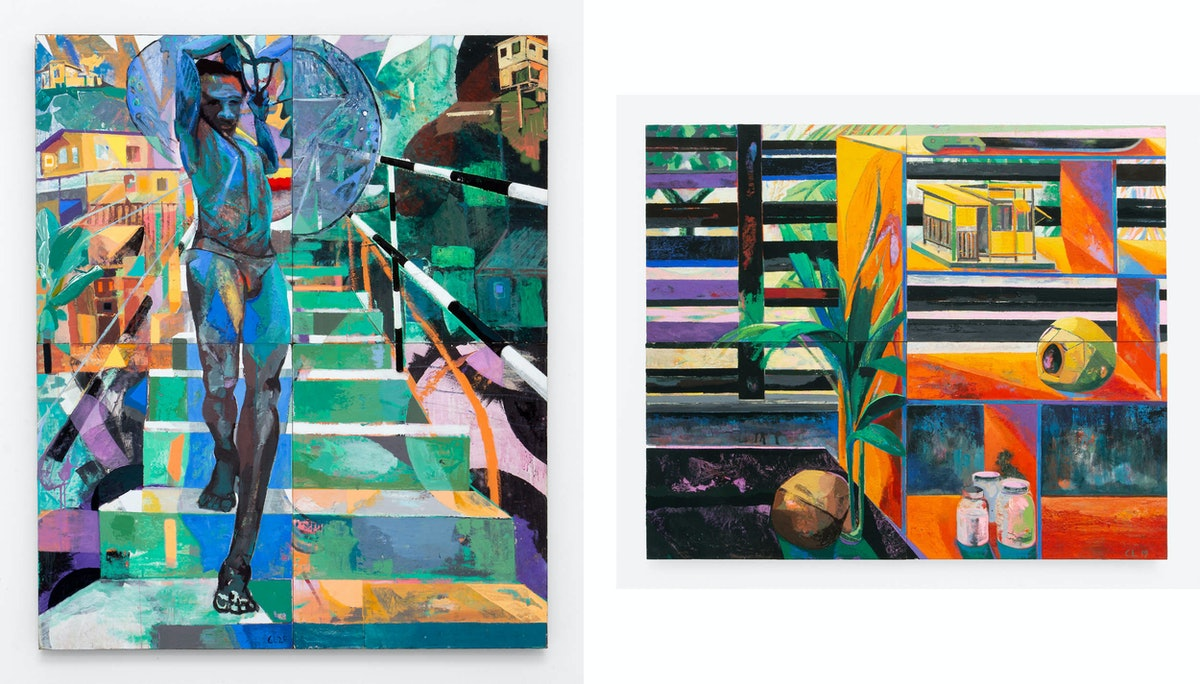 Two paintings by Che Lovelace
