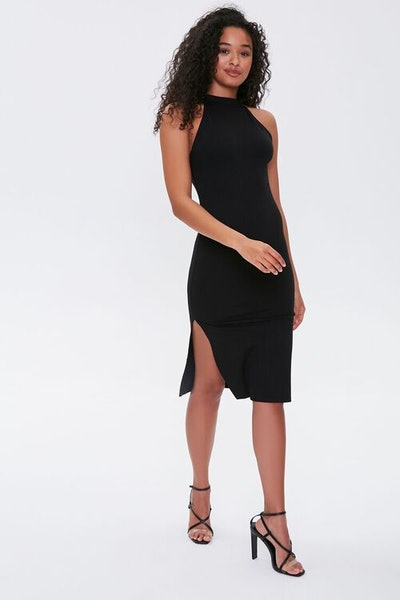 High-Neck Bodycon Dress
