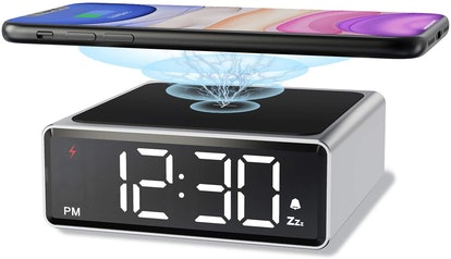 NOKLEAD Alarm Clock with Wireless Phone Charger