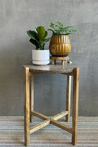 Terrazzo Top Wood Table
