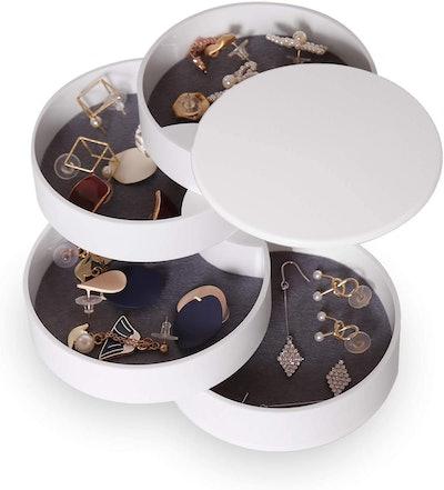 CONBOLA 4-Layer Rotating Jewelry Organizer