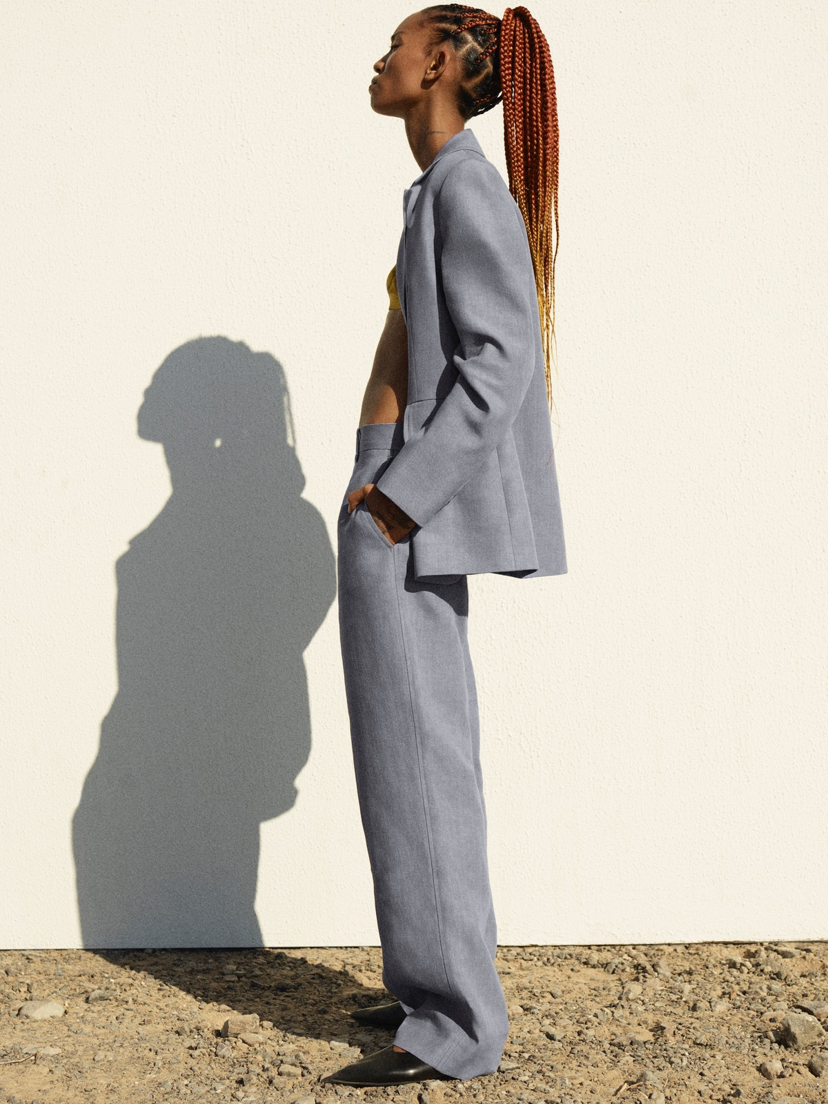 Adesuwa Aighewi in a COS campaign