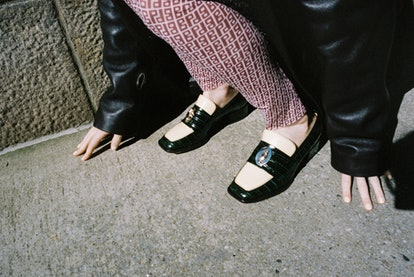 """Nomasei """"Nono"""" moccasin co-created with Molly and Reese Blutstein."""