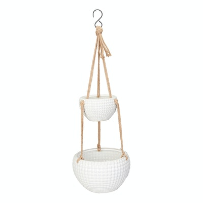Dots Two-Tier Hanging Planter