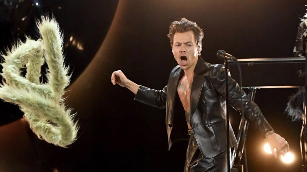 Harry Styles performs at the 2021 Grammy Awards.