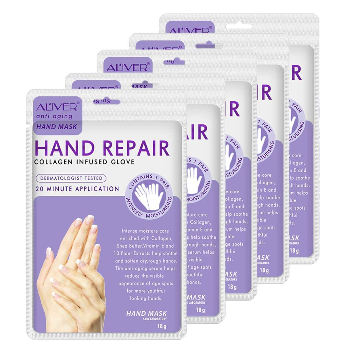 MianYang Moisturizing Gloves (5-Pack)