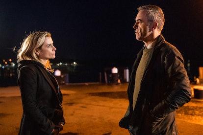 Tom Brannick and Tori Matthews in 'Bloodlands'