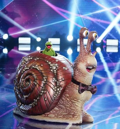 Kermit the Frog is Snail in 'Masked Singer' via Fox press site.