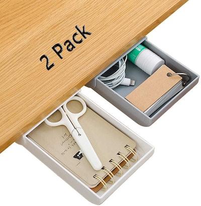JuguHoovi Under Desk Drawer Storage (2-Pack)